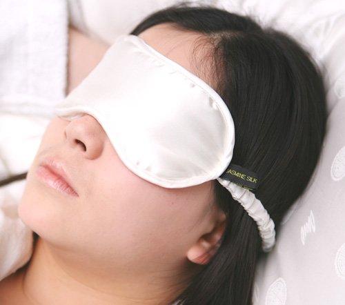 Jasmine Silk Luxe 100% zijden slaapmasker oogmasker reizen silk eye masker - ivoor