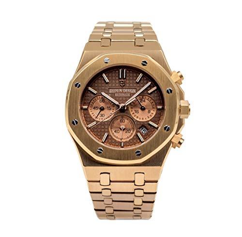 Sportliche Herren Armbanduhr, Saphirglas, Japanisches Quarzwerk, Didun Royal One Chronograph