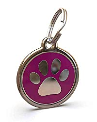 WARRANTY: Engraving Guaranteed For Life PERSONALISED: Customized Engraving On Back, Up To 5 Lines Of Engraving 16 Characters Per Line SUITABILITY: Labs, Golden Retrievers, Spaniels HIGH QUALITY: Stainless Steel With Enamel Inlay And Durable Split Rin...