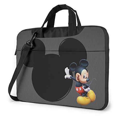 Movie Mi-ckey M-ouse Laptop Bag One Shoulder Shoulder Shockproof Protective Notebook Package-15.6 inch