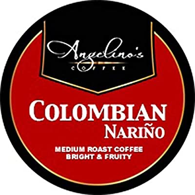 Angelino's Coffee 48 K-Cups Pods Capsules Count For KEURIG 2.0 Machines Light / Medium / Dark Roast ALL FLAVORS (48 Cups Colombian Narino)