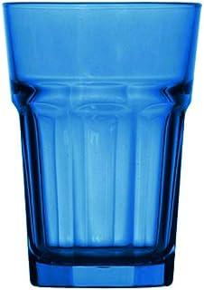 Topkapi 250.657 Lot de 6 verres à cocktail Miami Blue XL (36 cl) pour cocktail, long drink, mojito, jus, eau, hauteur ~ 12 cm