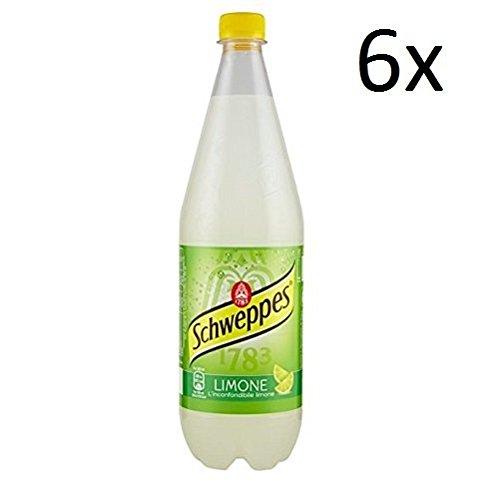 6x Schweppes limone Zitrone Lemonade PET 1 Lt erfrischend