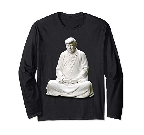 Estatua de Buda de Trump chino Zen Manga Larga
