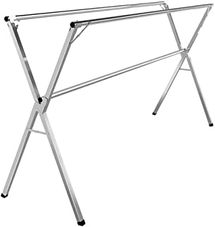 Home Furnishings Clothes Drying Racks Free Standing Heavy Duty Balcony Clothes Rail Adjustable Outdoor Floor mounted Cloth...