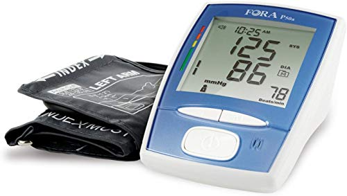 FORA P50 Medical Grade Arm Voice Blood Pressure Monitor, Made in Taiwan, IRB & Smart Averaging Technology, Large Display & Adjustable Cuff That Fits Arms 9.4-16.9 inches (24-43 cm) in Circumference.