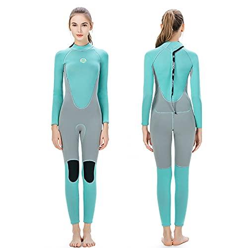 Yeah-hhi 3mm mujeres trajes de neopreno cuerpo completo manga larga buceo neopreno buceo traje de buceo para invierno natación surf Snorkeling pesca submarina