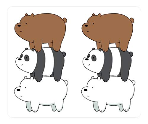 Echonie Creative Design Mouse Pad Rectangle Mouse Pad Gaming Mousepad We Bare Bears Stack Rectangle Non-Slip Mousepad Water Resistent Oblong Gaming Mouse Pads