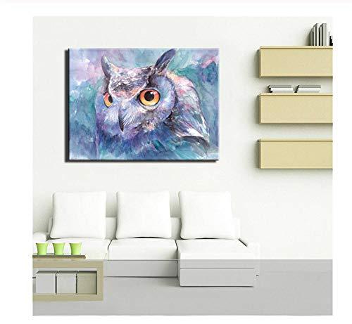 hutianyu Hoofddecoratie Moderne canvas muur gekleurde veren olieverfschilderij foto op doek voor de slaapkamer 11