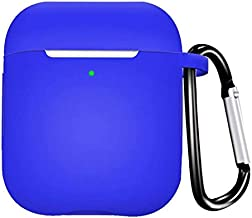 AirPods Case Silicon Fully Protective Cover [Front LED Visible], Compatible with Apple AirPods 1&2 (Royal Blue)