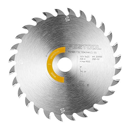 Festool 205551 HW 160x1,8x20 W28 Hoja de sierra universal