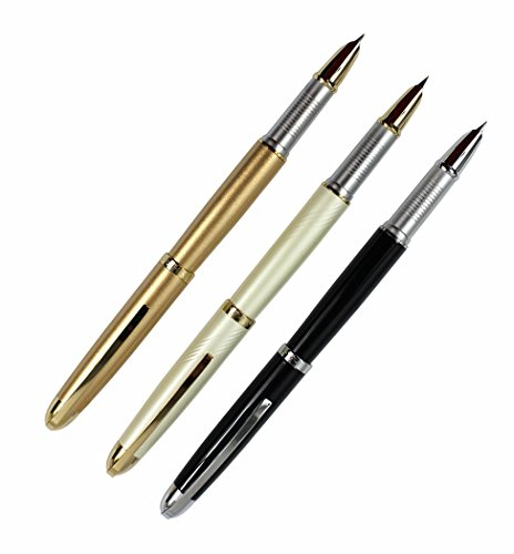 4 pcs In set Gullor 250 Fountain Pen in 4 colors with Original pen pouch and 5 colors ink cartridge