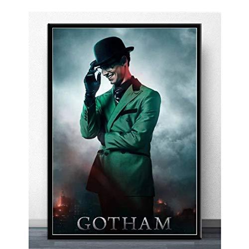 Gotham Saison 5 Série TV USA Jeremiah Valeska Personnage Affiche Wall Art Prints Toile Pour La Décoration Murale -50x70cm No Frame