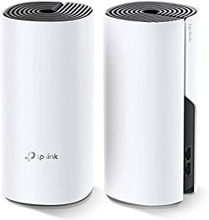 TP-Link Deco WiFi Mesh Sistema WiFi de Malla Para todo el Hogar: Itinerancia sin Interrupciones, hasta 2, 800 Pies Cuadrados. ft. Cobertura, Funciona con Alexa (Deco E4 2 Pack)