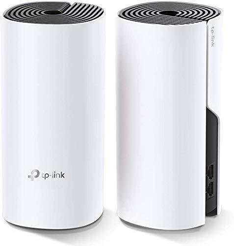 TP-Link Deco Sistema WiFi Mesh (o en malla) para todo el hogar: alcanza hasta 867 Mbps, itinerancia sin interrupciones, cobertura de hasta 2800 pies cuadrados. Funciona con Alexa. (Deco E4 2 Pack)