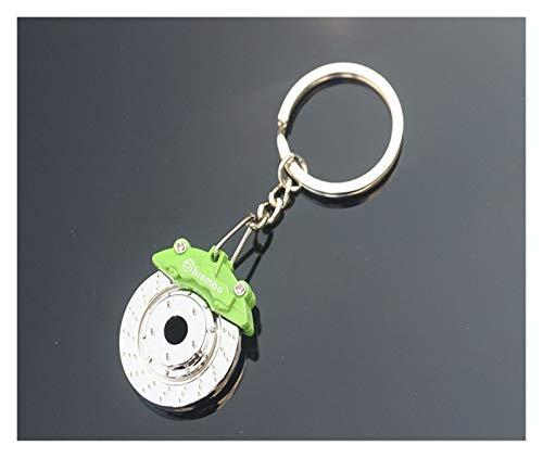 DAHDXD Creative-Bremsscheibe Rad Sattel Keychain Auto Scheibenbremse Schlüsselanhänger Edelstahl-Männer Und Frauen Taillen-Schlüsselring-Ketten-Anhänger Schlüsselanhänger (Color : Green)