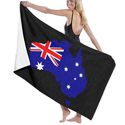 huatongxin Australia Flag Map Fashion Super Absorbent Soft Toalla de baño 80 X 130 cm