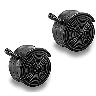ZUKKA 27.5 Inch Bike Tube, 48 mm Schrader Valve Bicycle Inner Tubes,Tire Width Fit Range 1.95-Inch to 2.125-Inch MTB Mountain Cycling Replacement Tubes/Black (2 Pack)