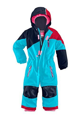 Killtec Unisex Kinder Kesley Mini Skioverall/Schneeanzug Mit Kapuze, 10.000 Mm Wassersäule, Wasserdicht, Türkis, 98/104
