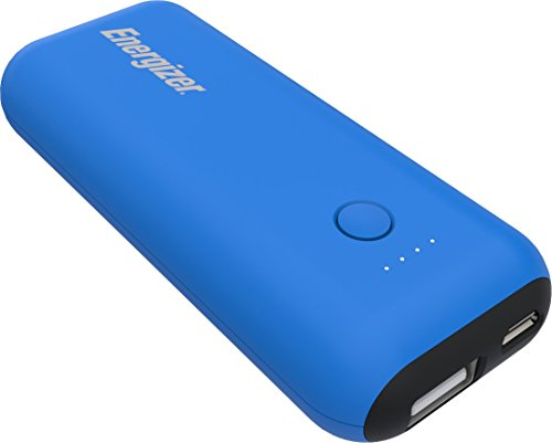 Energizer Max 5000mAh Externer Akku, kompakte Powerbank, Handy Ladegerät [2.1A Output] für iPhone 11/11 Pro/11 Pro Max, Xs/Xs Max/XR/X/8/7, iPad, Samsung Galaxy S9/S10 uvm (Blau/Schwarz)[2.1A Output]