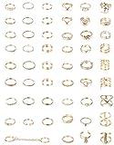 YADOCA 52 Pcs Vintage Bague Phalange Femme Or Knuckle Anneaux pour Femmes Filles Fantaisie Stacking Finger Midi Fashion Rings Lot...