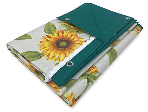tex family Sonnensegel für den Außenbereich, bedruckt, Sonnenblume, verpackt, 150 x 300 cm