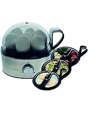 Solis Egg Boiler & More 827 - Eierkoker Electrisch en Groentestomer - Tot 7 Gekookte Eieren - Geschikt voor Gepocheerde en Gebakken Eieren - Multifunctionele eierkoker - Cool Touch Handgreep