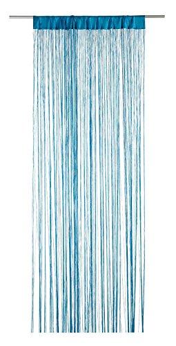Fadenvorhang Fadengardine Türvorhang | Türkis | 110x250 cm | Polyester