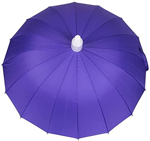 Paraguas resistente a la intemperie 16 Rib Light Sunshade Sun Umbrella Purple