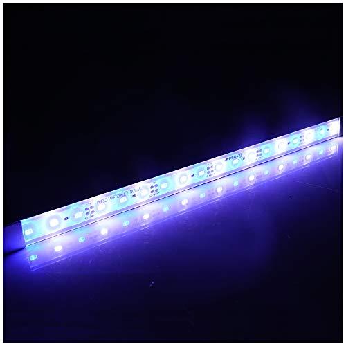 LTRGBW 5730 SMD 12V DC 18 LED super heldere aquarium LED-strip lichten waterdicht schijnwerper aluminium LED lineaire verlichting - kastje LED-bar lamp (Bule White) 30CM Bule+Weiß