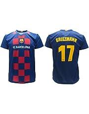 Antoine Griezmann 17 Barcellona FCB Maglia T-Shirt 2019/2020 Barcelona Barça Divisa Replica Ufficiale Autentica Bambino/Ragazzo (Anni 2 4 6 8 10 12 14) Adulto (S M L XL)