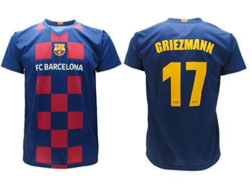 Antoine Griezmann 17 Barcelona FCB Camiseta 2019/2020 Barcellona Barça Réplica Oficial Auténtico Jersey T-Shirt Tamaño Niño (Años 2 4 6 8 10 12 14) y Adulto (S M L XL) (XXL Extra Extra Large)