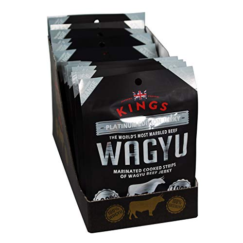 Kings Platinum Edition Wagyu Beef Jerky Packs Box of 16 x 25 Grams