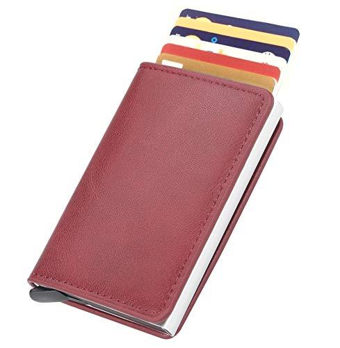 Lothus creditcardhouder Slim RFID 2. generatie, portefeuille voor heren en dames, dun, afgeschermd, portemonnee voor creditcards, koolstofvezel
