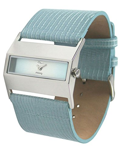 Moog Paris Hope Orologio da Donna con Quadrante Blu, Cinturino Blu in Pelle Genuina - M41412-003