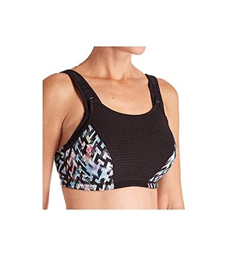 Glamorise Full Figure Plus Size Elite Performance Adjustable Wonderwire Sports Bra #9167, Print, 38F
