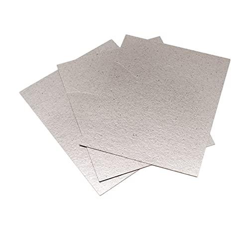 TIANLIN 3 Piezas Placa de Mica, 4.7 x 5.9 Pulgadas Cubierta de Guía de Ondas de Mica, Piezas de Repuesto de Guía de Ondas Cortables, Adecuado para Microondas y Horno