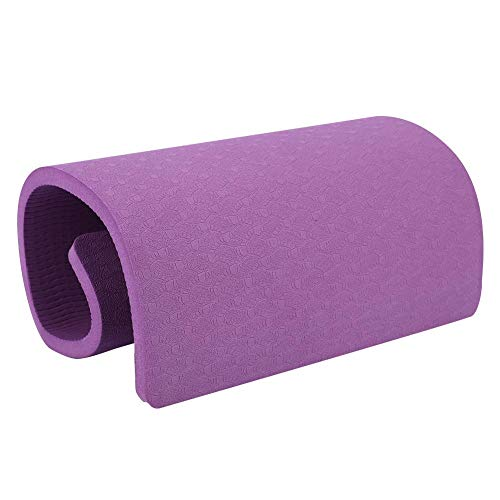 Yoga Mat Fitness Knee Pad Elbow Cushion Mat for Yoga Pilates Fitness Planks Floor Workouts (Dark Purple)