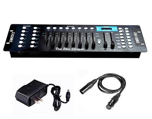 Dmx Console,192CH Dmx512 Console, With 2m/6.6 ft DMX Signal Cable, Controller Panel Use For Editing Program Of Stage Lighting Runing