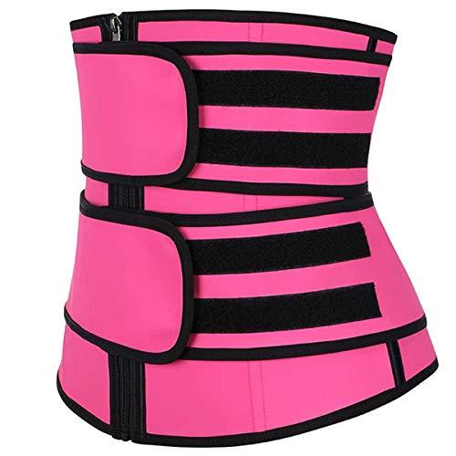 Greatangle-UK Damen Shaper Unisex Taille Cincher Trimmer Bauch Schlankheitsgürtel Body Shaper Taille Trainer Frau Postpartale Korsett Shaper rosarot Reißverschluss 3XL