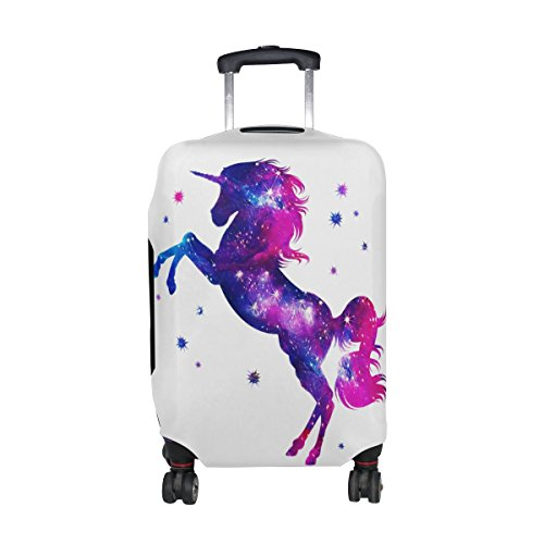 ALAZA Fantasy Cosmic Unicorn Galaxy Luggage Suitcase Cover Case Protector