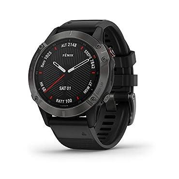 Garmin fenix 6 Pro Sapphire Multisport Smartwatch (Carbon Gray DLC/Black Band)