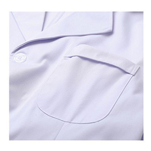 Langärmelige kurze abschnitt kittel ärzte krankenschwestern bekleidung arbeitskleidung arbeit (männer, XXXL) - 3
