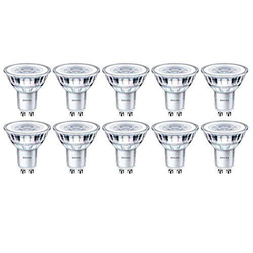 Philips 929001218832 CorePro - Lot de 10 spots LED à intensité variable GU10 - Blanc chaud - 5 W (50 W) - 2700 K - 350 lm - 15 000 heures - Faisceau 36°
