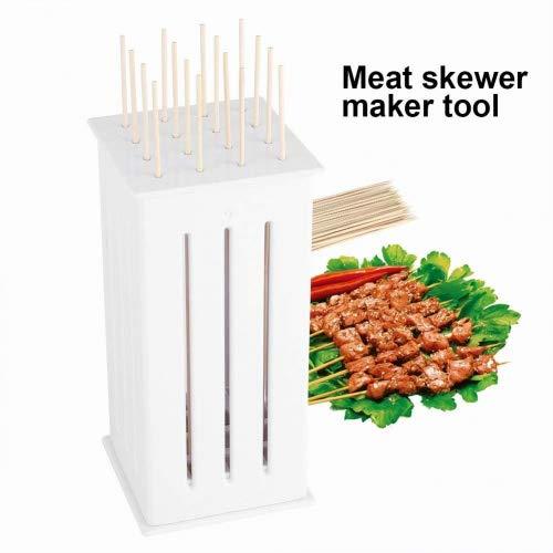 16-Loch Kebab Maker Grillbesteck Barbecue Spieß Maker Kebab Schnellgerät Rapid Meat Tools für Barbecue Grill Fleisch Gemüse Spieße