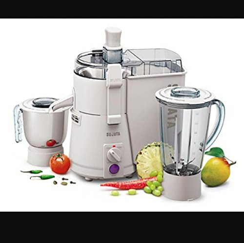 Sujata Powermatic Plus - 501-A.I 900-Watt Juicer Mixer Grinder (White)