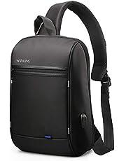 WINKINGショルダーバッグ メンズ 斜めがけ ボディバッグ 大容量 ワンショルダーバッグ USBポート 防水 IPad収納可能 ビジネス 通学通勤 旅行