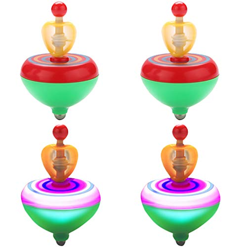 For Sale! Coxeer Spinning Top, 4PCS LED Spinning Top Creative Funny Light up Interactive Peg-top Spi...