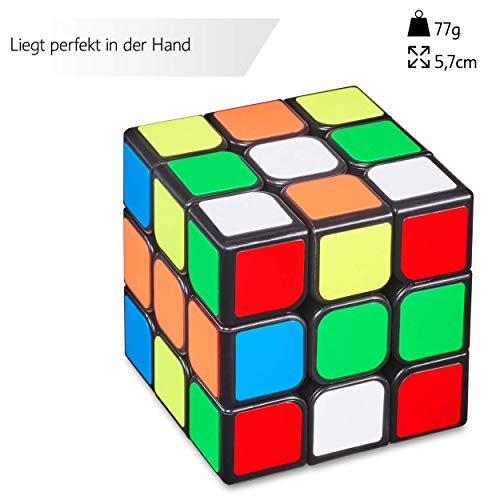 3×3 Zauberwürfel – Original Cubixs Speedcube – Typ Los Angeles – mit optimierten Dreheigenschaften für Speed-Cubing - 2