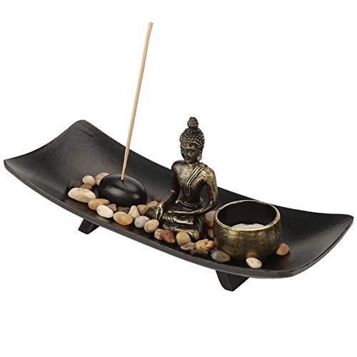 Soporte de incienso de budismo zen, soporte para quemador de incienso, recogedor...